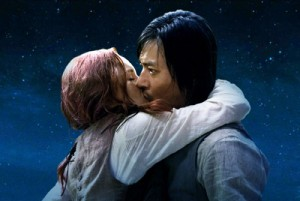 The Warrior's Way: Asian Man White Woman Kiss!